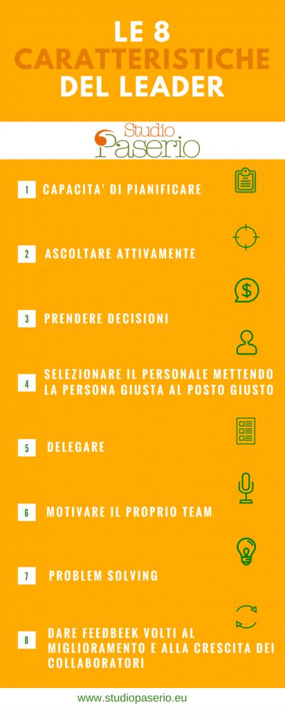 Le 8 caratteristiche del leader